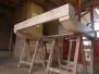Fabrication corbeaux et linteau cheminée
